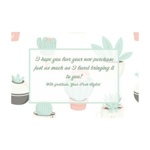 20 4x6 Succulents Thank you cards